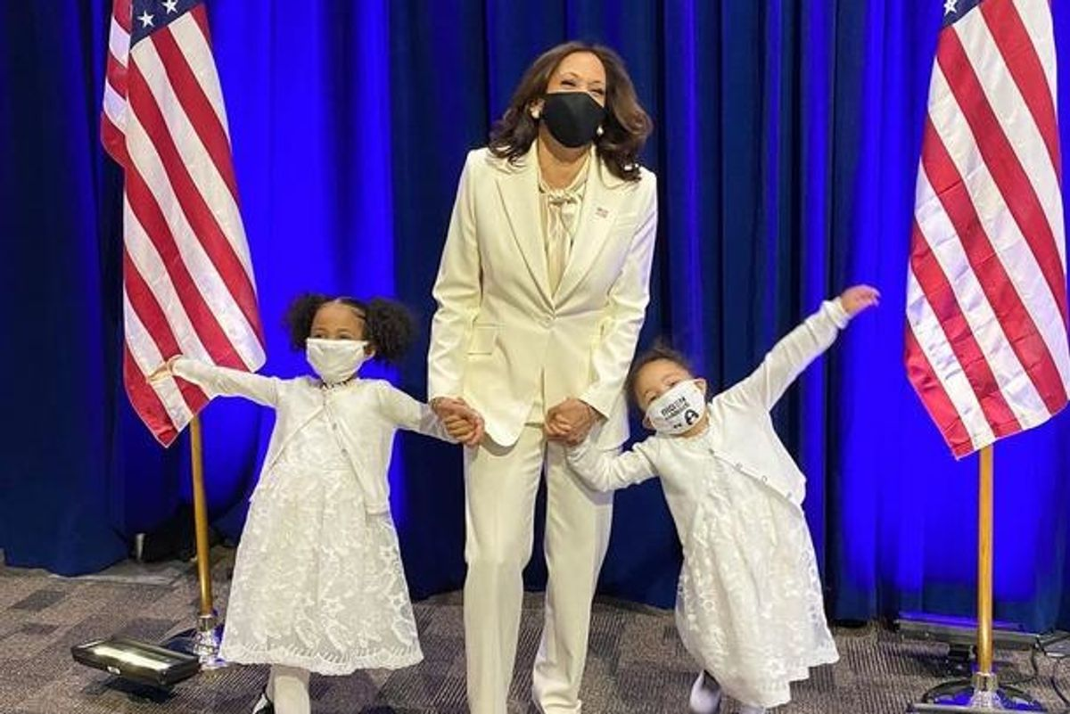 The significance behind Kamala Harris' suit is a beautiful touchstone to female equality