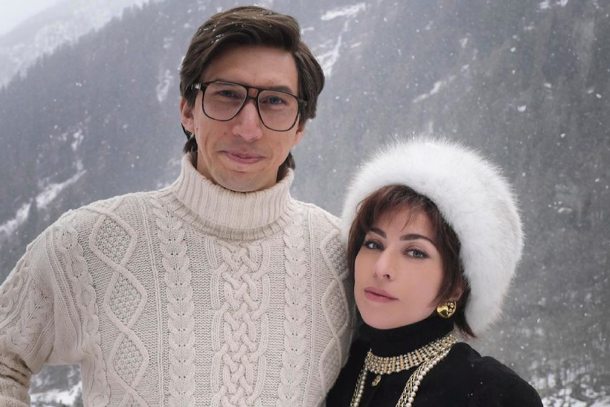 Lady Gaga and Adam Driver look like an Alpine daydream in 'House of Gucci' set photos - and I'm here for it