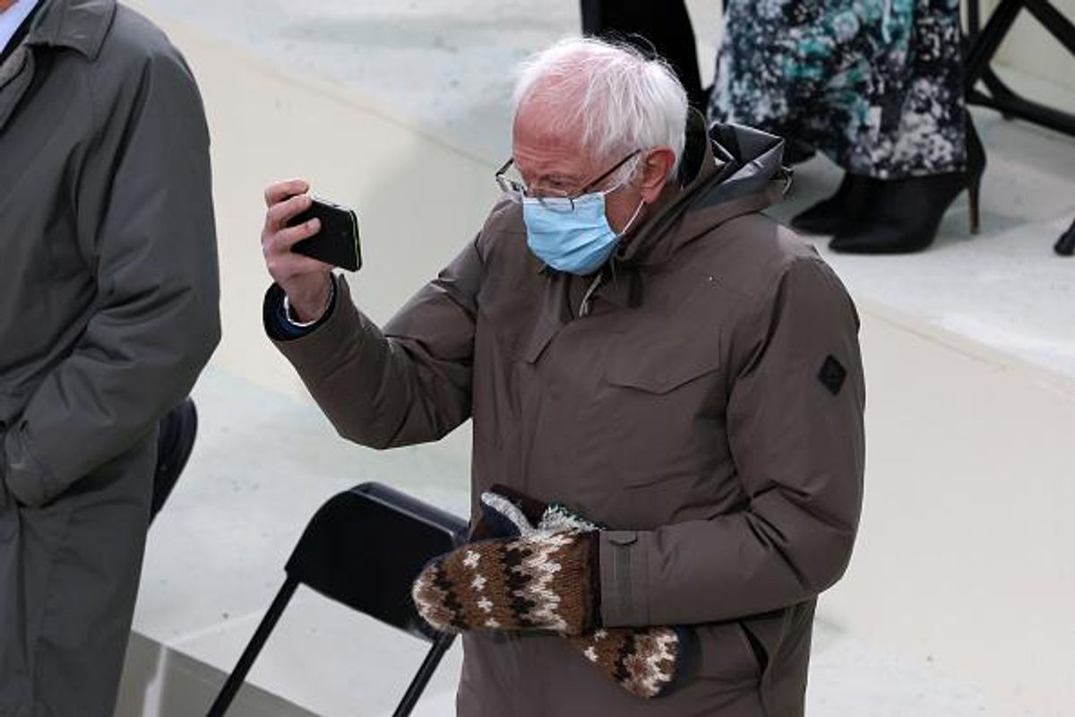 """Senator Bernie Sanders responds to viral inauguration memes: """"I was just sitting there trying to keep warm."""""""